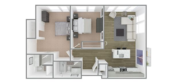 2 Bedroom 2 Bath Plan P