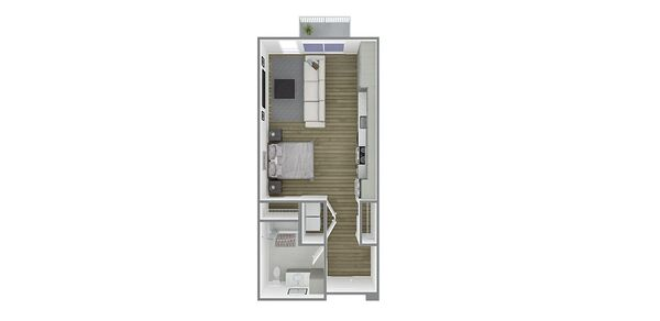 Studio Plan A/A Affordable