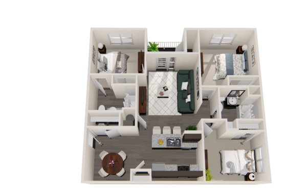 Three-Bedroom Unit