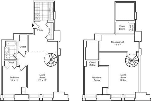 1 Bedroom H with Loft