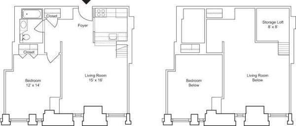 1 Bedroom I- Floors 3 & 4