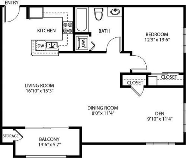 1 Bedroom with Loft (G)