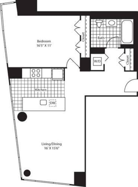 One Bedroom F FL 14-27
