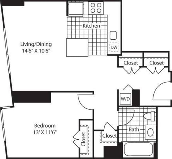 One Bedroom Lkit FlL 10_705