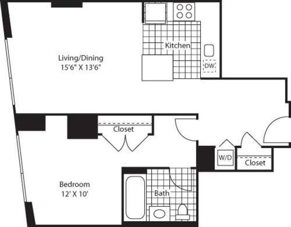 One Bedroom AK FL 7-9