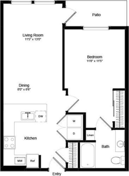 One Bed A-1 - Phase III
