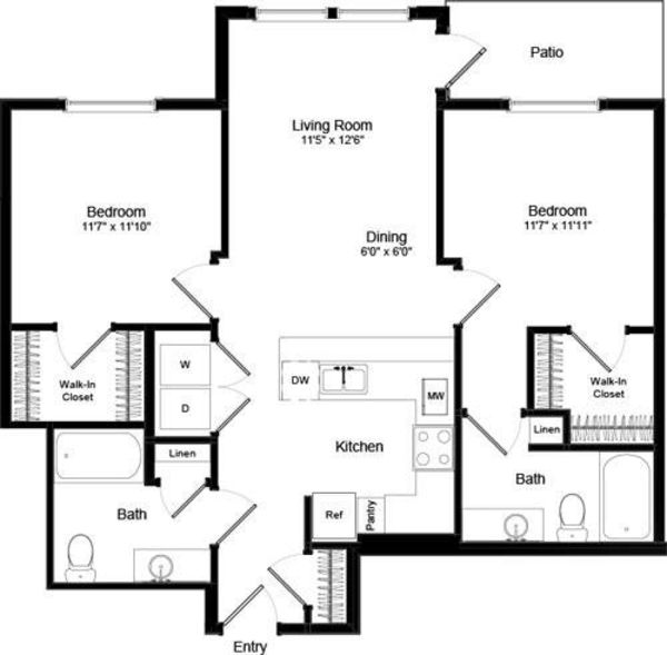 Two Bed B-1 - Phase III