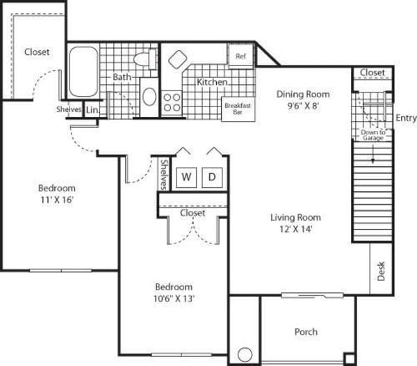 Two Bed B-1 - Phase I