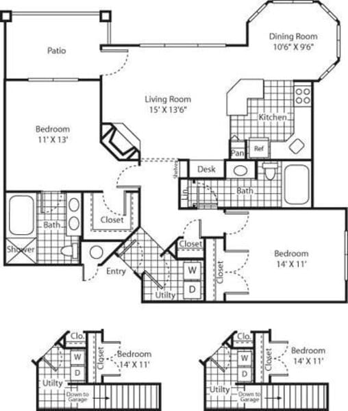 Two Bed B-3 - Phase I