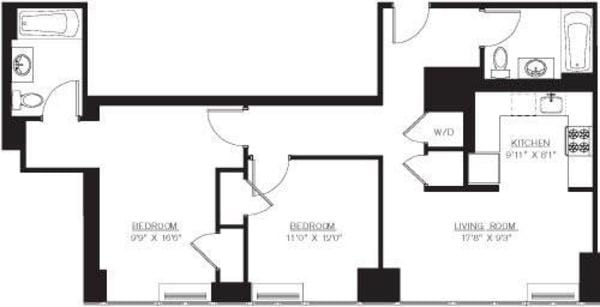 2 Bedroom H Line floors 8-41