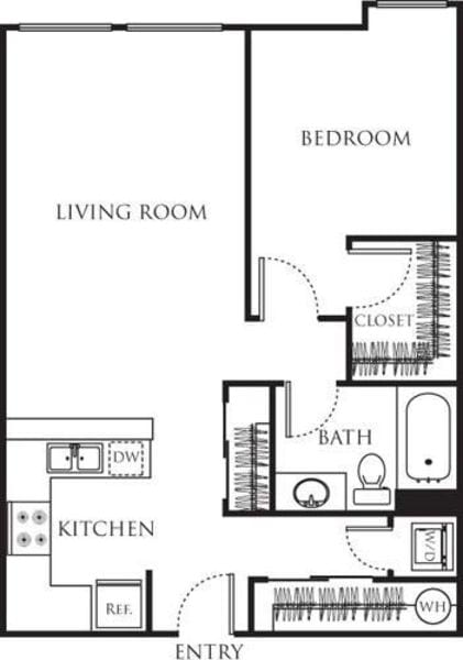 One Bedroom 680