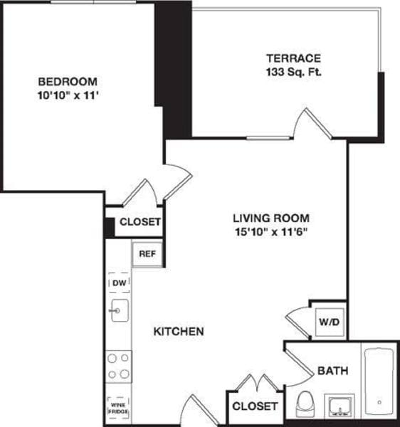 One Bedroom 9D