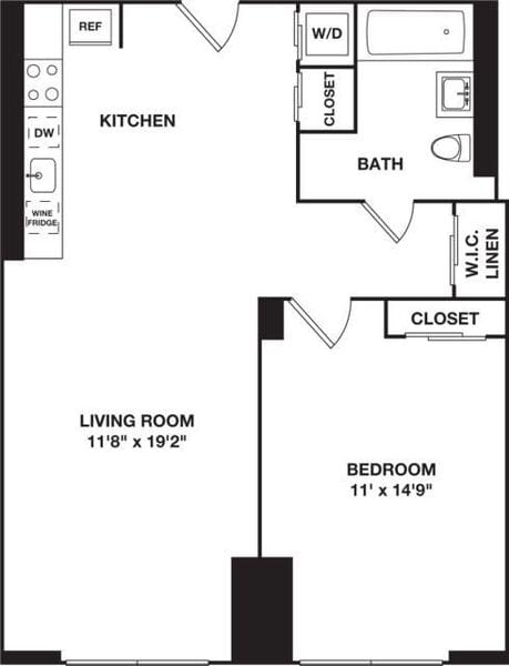 One Bedroom 9G