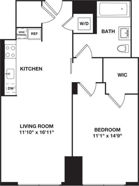 One Bedroom 10F