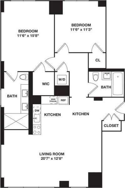 Two Bedroom 11A