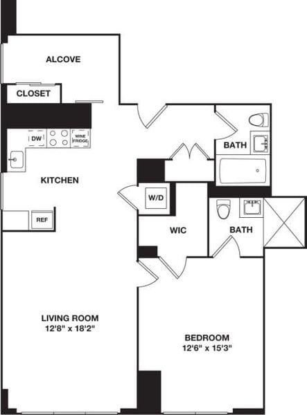 One Bedroom with Den K