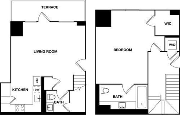 One Bedroom 2C