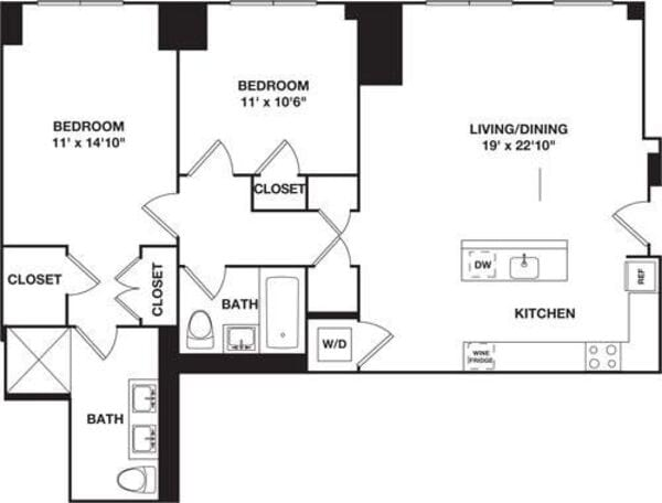 Two Bedroom 10B