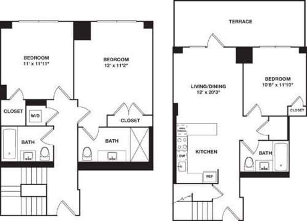 Three Bedroom Duplex B