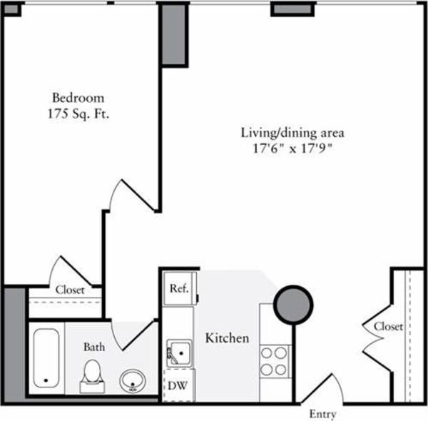 The Lofts 1 Bedroom F