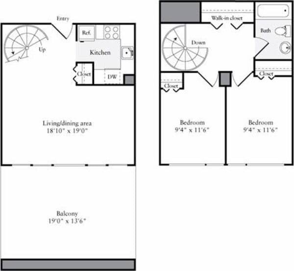 The Lofts 2 Bedrooms A