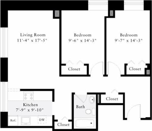 The Lofts 2 Bedrooms C