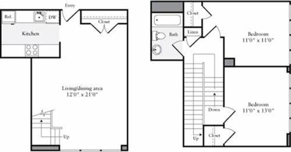 The Lofts 2 Bedrooms E