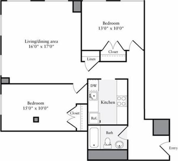The Lofts 2 Bedrooms O