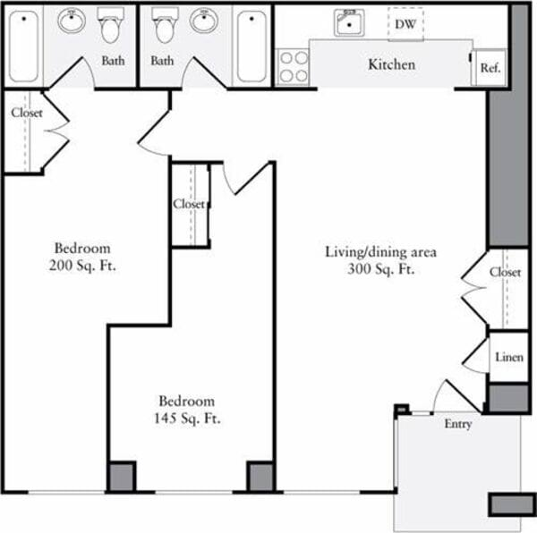 The Lofts 2 Bedrooms R