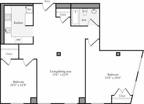 The Lofts 2 Bedrooms S