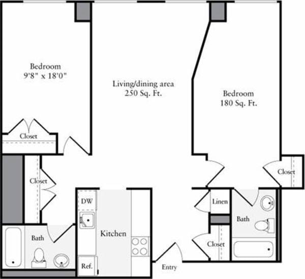 The Lofts 2 Bedrooms Y