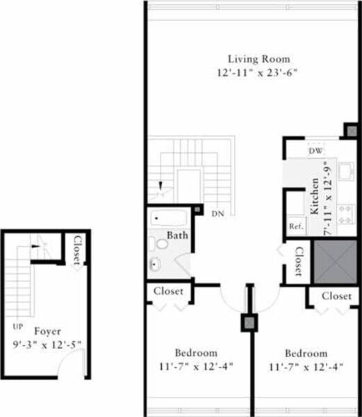 The Lofts 2 Bedrooms Z