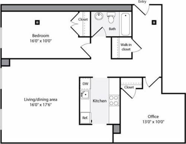 The Lofts 1 Bedroom K