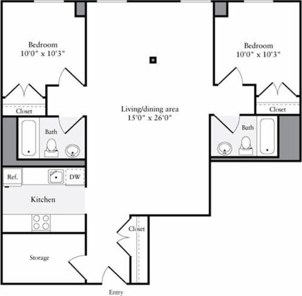 The Lofts 2 Bedrooms AA