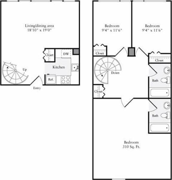 The Lofts 3+ Bedrooms A