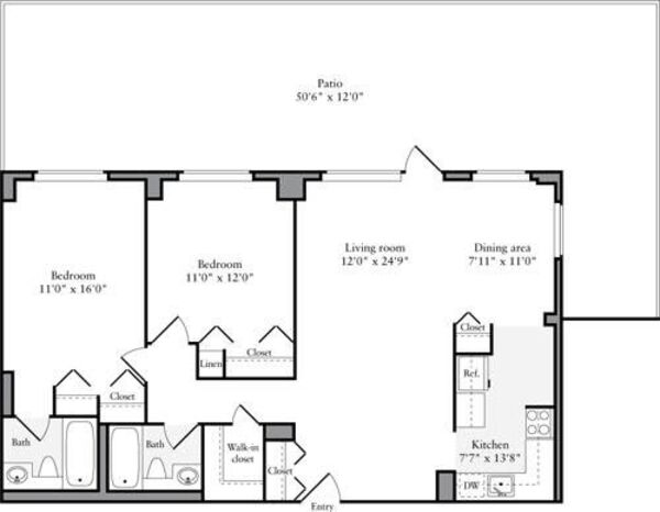 2 Bedroom G with Terrace