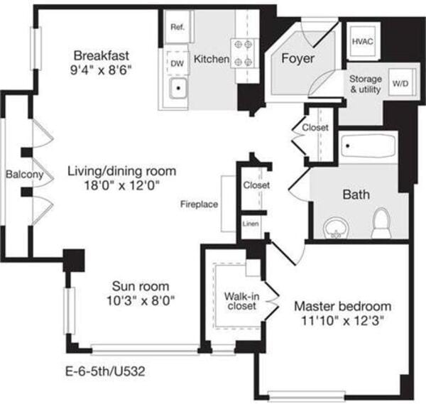 1 Bedroom AA