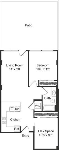 One Bedroom Large Flex E2