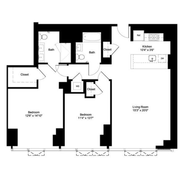 Two Bedroom J 20, I 21-22