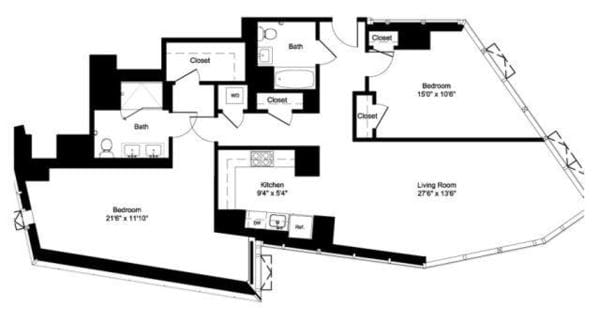 Two Bedroom D 11-19