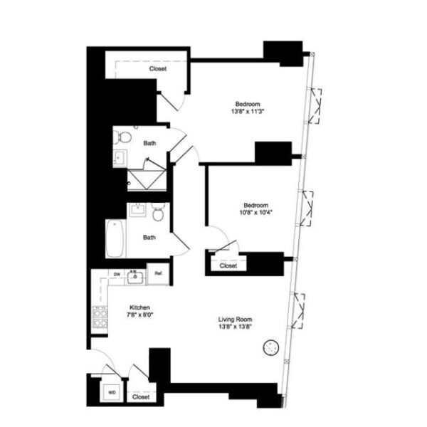 Two Bedroom E 21-22