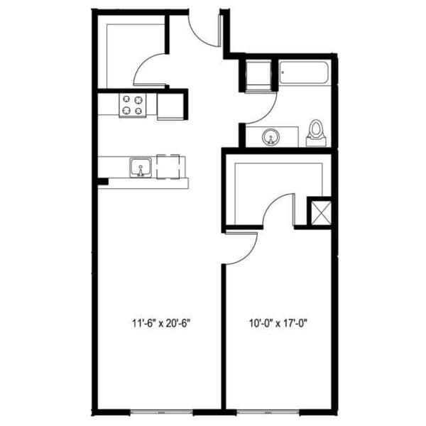 1 Bedroom K plus Den