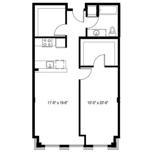 1 Bedroom N plus Den