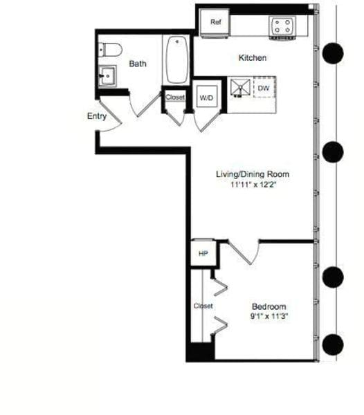 One Bedroom E 9-13