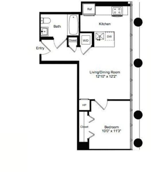 One Bedroom E 7