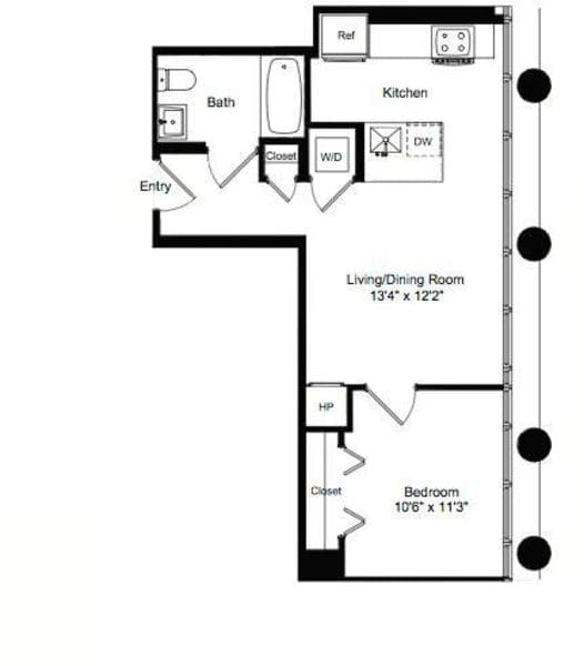 One Bedroom E 6