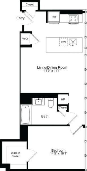 One Bedroom F 19
