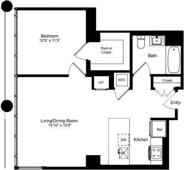 One Bedroom M 3-12