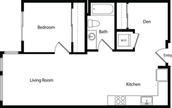 One Bedroom Den A