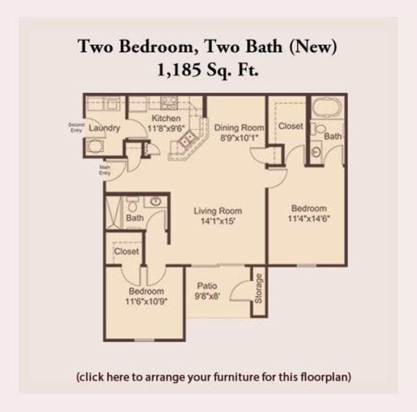 Pre-Leasing Two Bedroom
